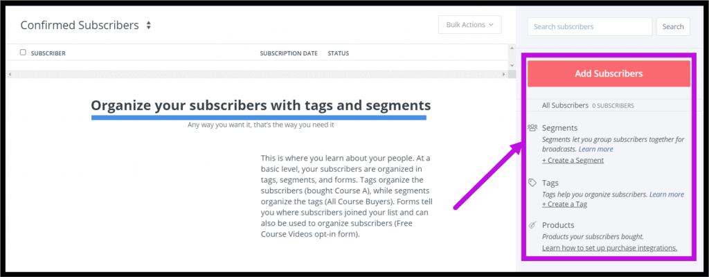 ConvertKit Tags and Segments